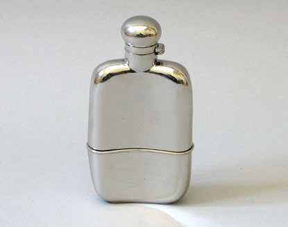 Walker and Hall Silver Hip Flask