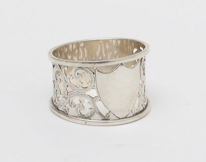 Antique Silver Plate Napkin Ring