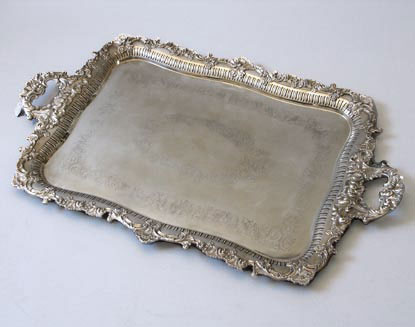 Victorian Silver Plated Tray